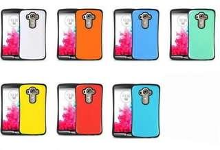 LG G4 case 手機殻 四邊包膠外層光面耐磨損 地盤戶外必備 送2.5D 9H 玻璃貼 全屏