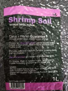 Shrimp soil, for shrimps,fishes,mosses  Smaller pack,  1 ℓ , very good for small tank or part of tank... Good for new starter.