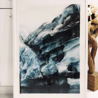 Pastel Ice Glacier Painting, Artist Collection