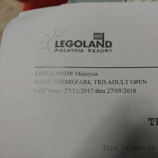 Lego land adult and Thomas/Hello Kitty town E ticket