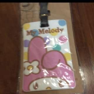 My melody luggage tag