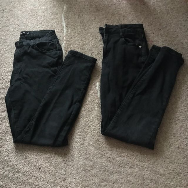 2x faded black jeans