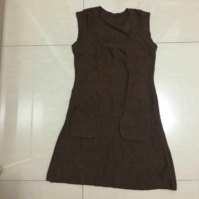 針織長上衣(肩寬36 衣長80)