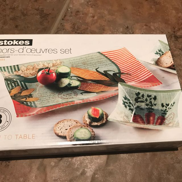 3 piece hors d'oeuvres set