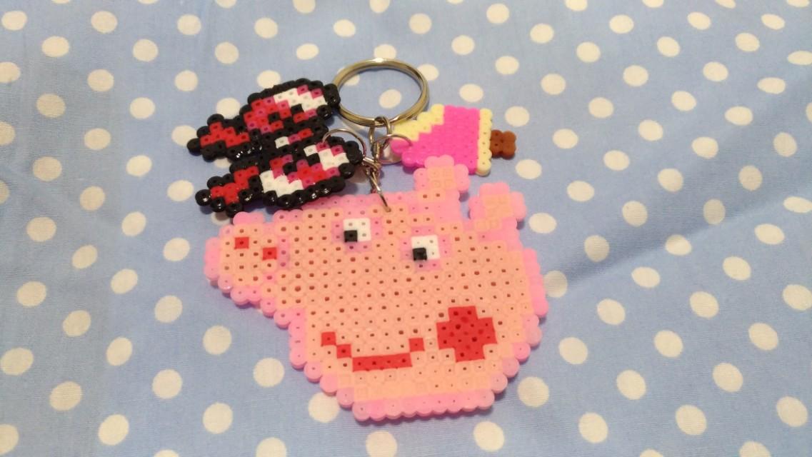 粉紅豬拼豆