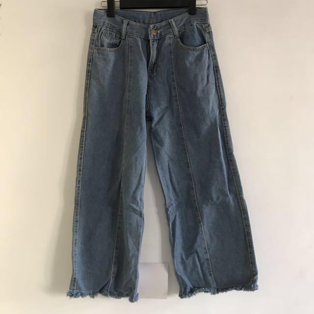 寬褲牛仔褲