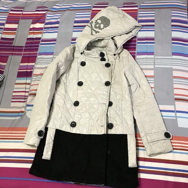 韓版保暖厚長版雙排扣外套#四百不著涼