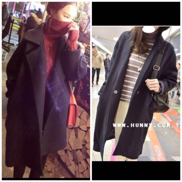買一送一 韓 韓風 韓版 大衣 長版大衣 寬鬆大衣 大衣外套 寬鬆大衣 #舊愛換新歡 換物
