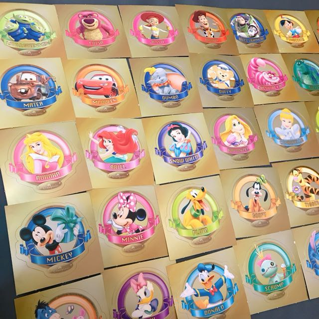 香港迪士尼 HK Disney 樂園 貼紙 全系列 米奇米妮 公主 達菲 史迪奇 三眼 巴斯光年 胡迪 唐老鴨 布魯托 小木偶 毛怪 妙妙貓小美人魚 麥昆