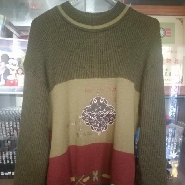 古著刺繡毛衣 vintage