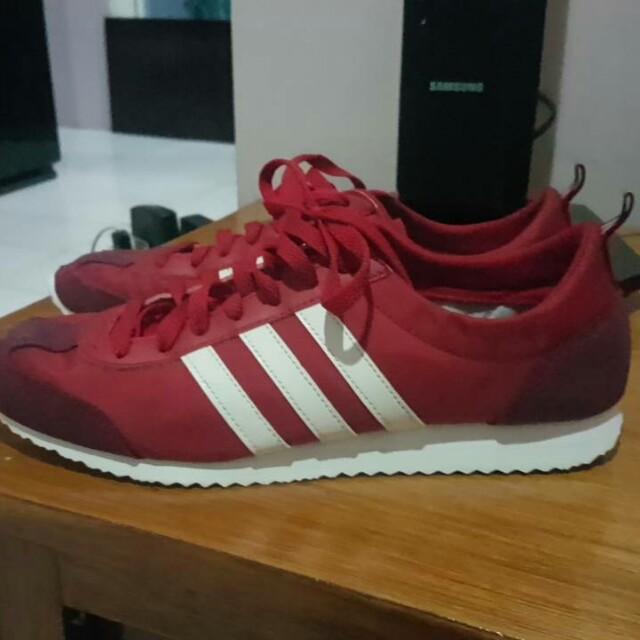 Adidas Neo Vs Jog Red White