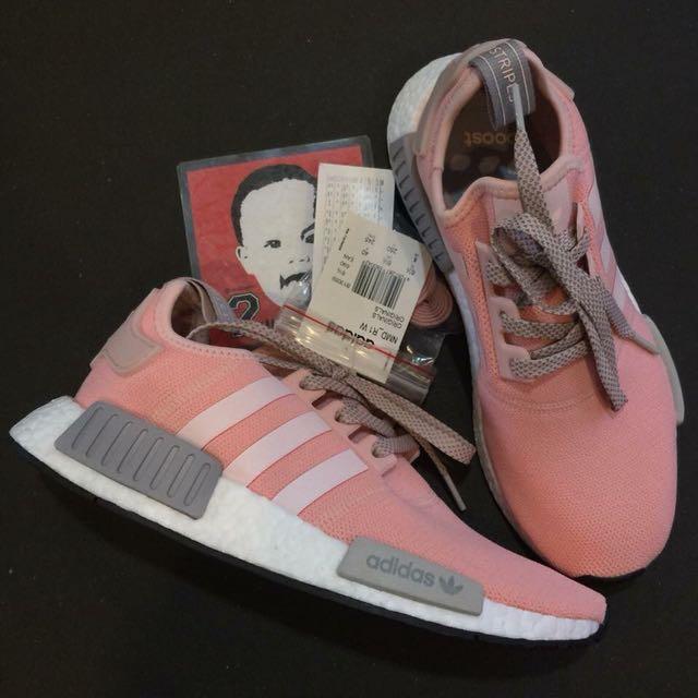 adidas nmd r1 x ufficio prole vapore rosa delle donne, preloved