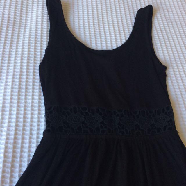 Amazing Black Detailed Dress