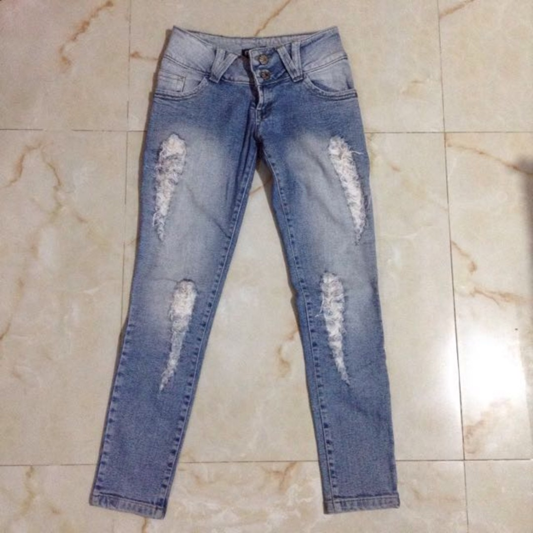 American Denim Blue Ripped Jeans