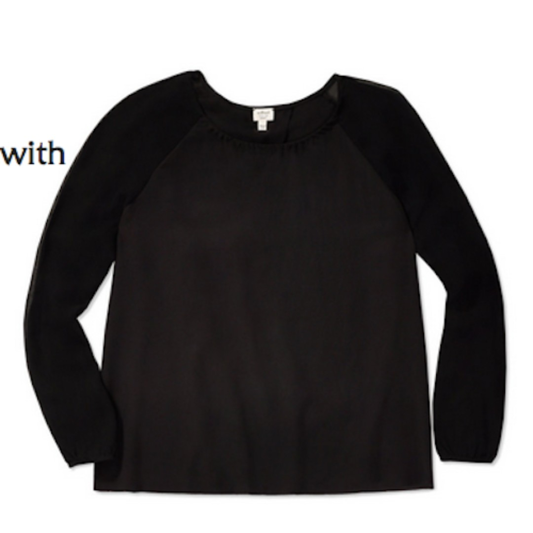 ARITZIA – WILFRED – BLACK GIVERNY SILK BLOUSE (SIZE SMALL) PRELOVED