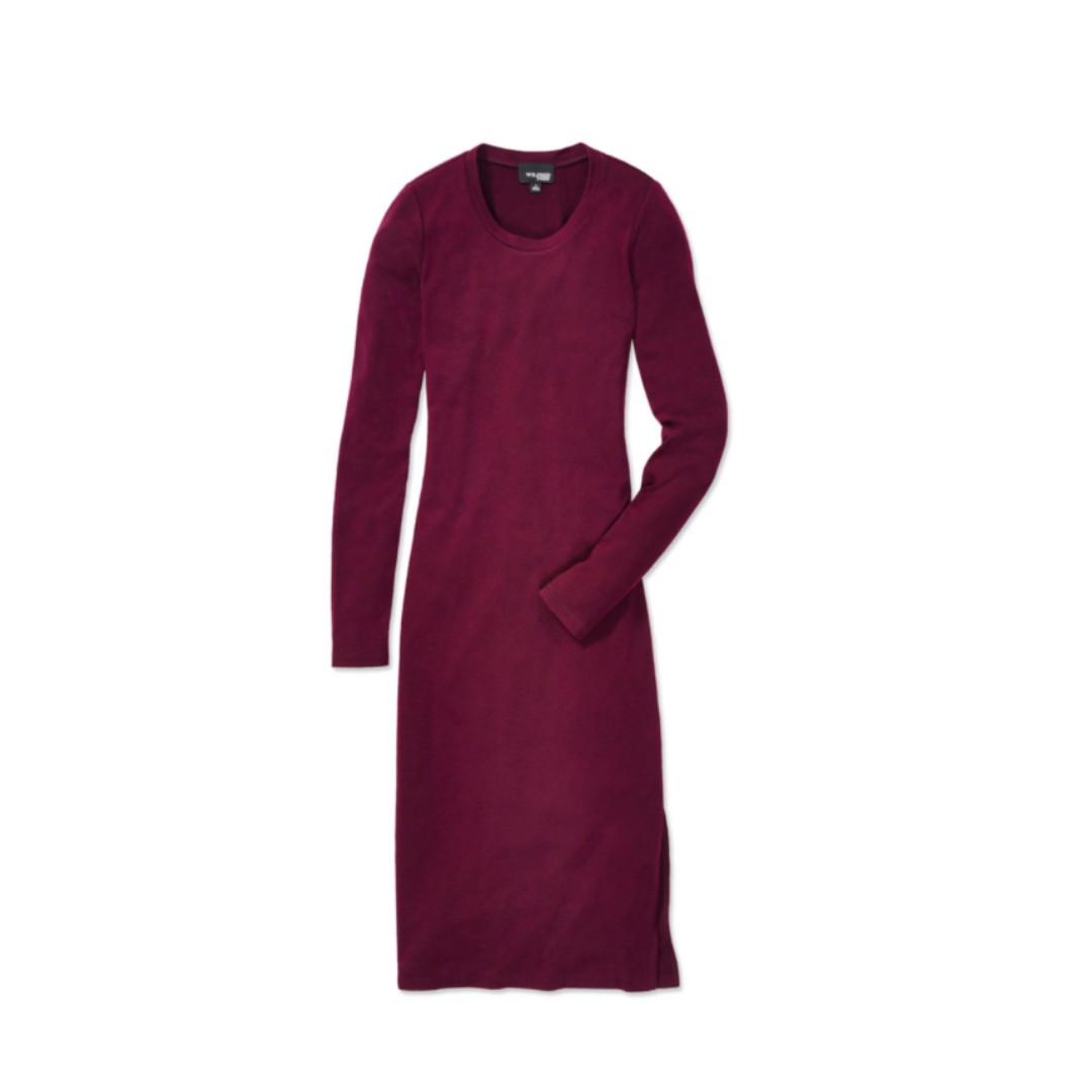 ARITZIA – WILFRED – BURGUNDY (CABERNET) PARLEUR DRESS (MEDIUM) BRAND NEW