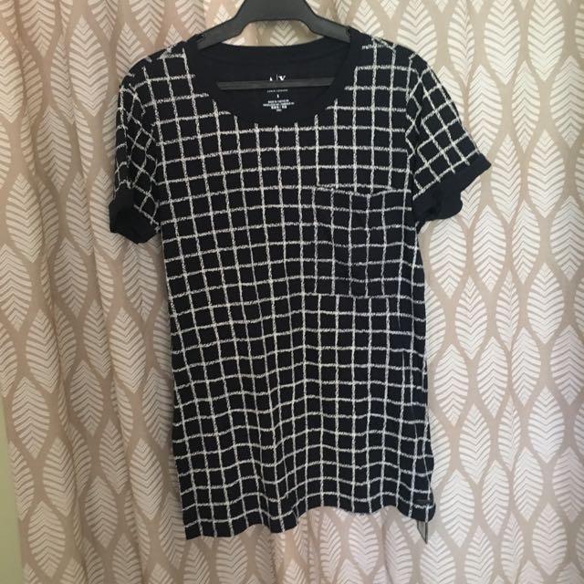 Armani Exchange grid t shirt