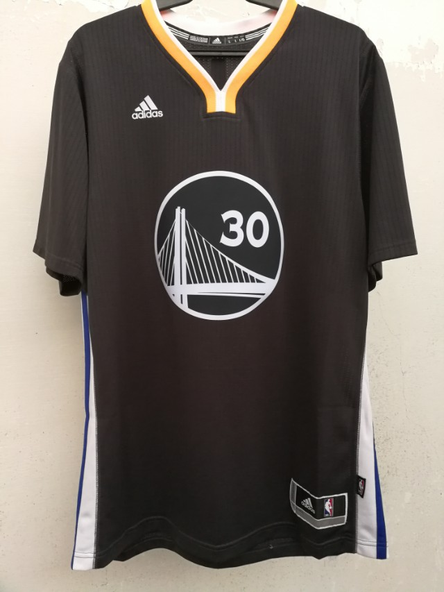 check out bad06 810e6 Auth Adidas Swingman NBA sleeved jersey GSW Curry Warriors