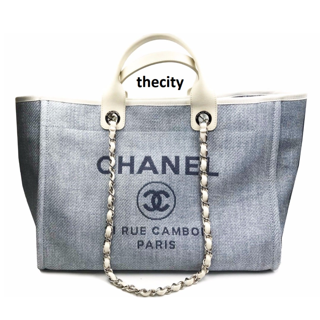 678b2bdf517fa3 AUTHENTIC CHANEL DEAUVILLE LARGE CANVAS TOTE, Luxury, Bags & Wallets ...
