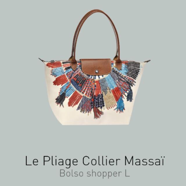 f1cee41cbcef Authentic Longchamp Le Pliage Collier Massai