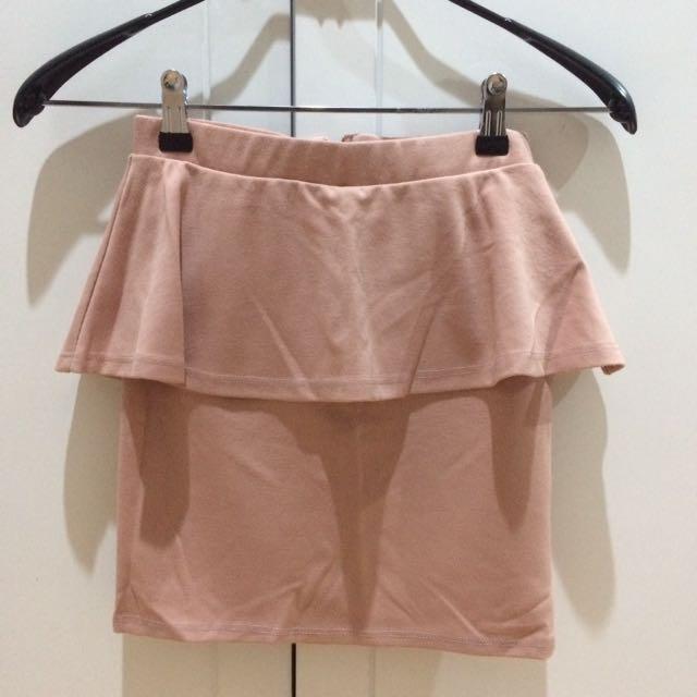 Bershka Coral Skirt