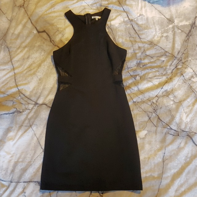Black Bodycon Dress with Cut Outs