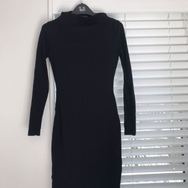 Black Long Sleeve Cutout Dress