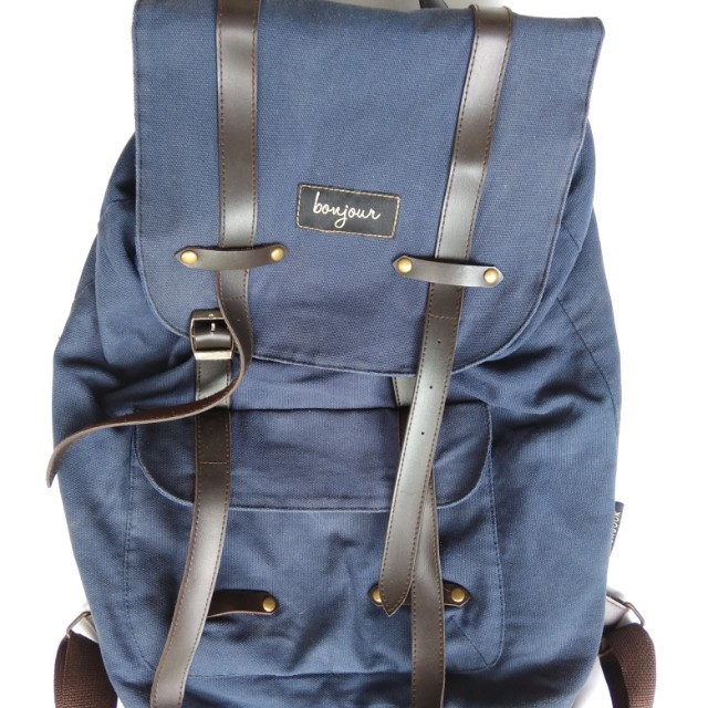 Bonjour Blue Backpack Canvas Dope