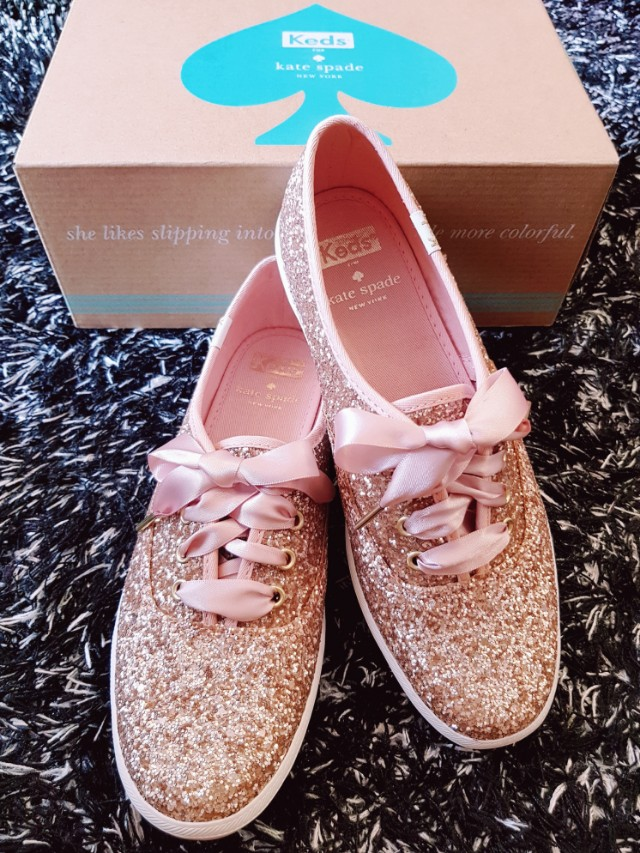 7f41ddc8307 Brand New KEDS X Kate Spade Glitter Rose Gold Shoes - Size 6 ...