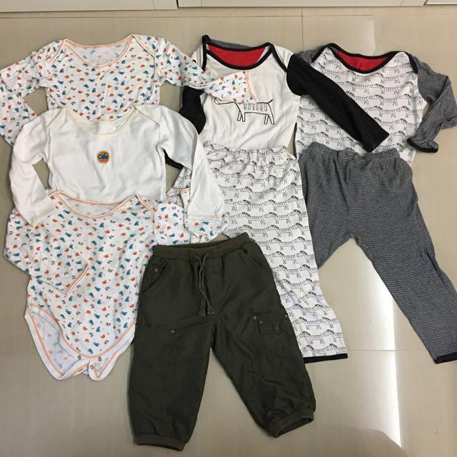 fed32b2c4 Bundles of Mothercare long sleeve rompers pajamas long pants