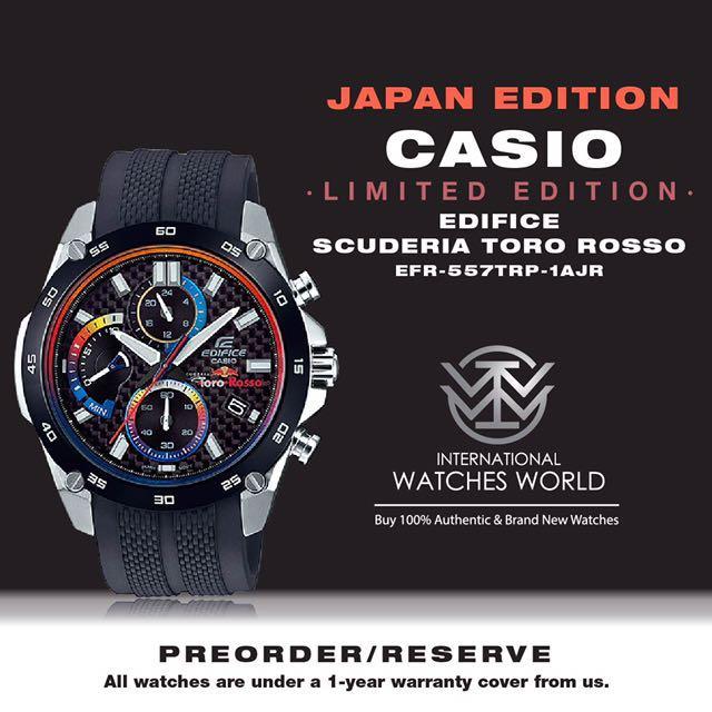 CASIO JAPAN EDITON EDIFICE SCUDERIA TORO ROSSO LIMITED EDITION  EFR-557TRP-1AJR 775f3008aa18