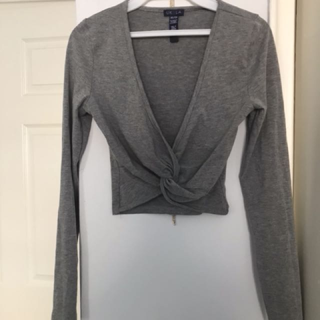 Crop top Grey