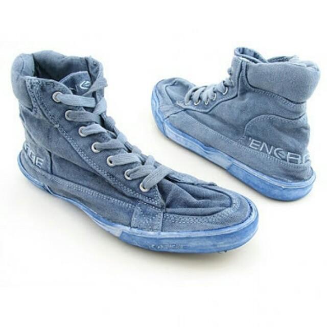 Energie Men's Dark Blue Denim Powder High Sneakers