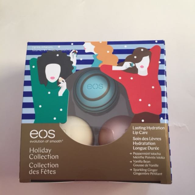 EOS lip balm holiday 3 pack