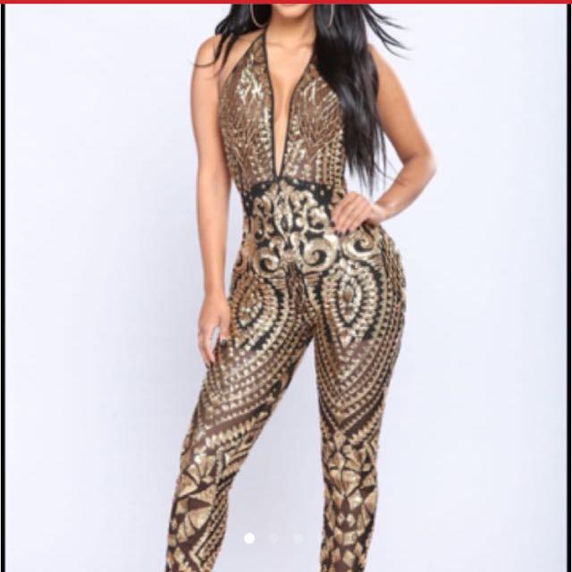 Fashion nova sequin jumpsuit