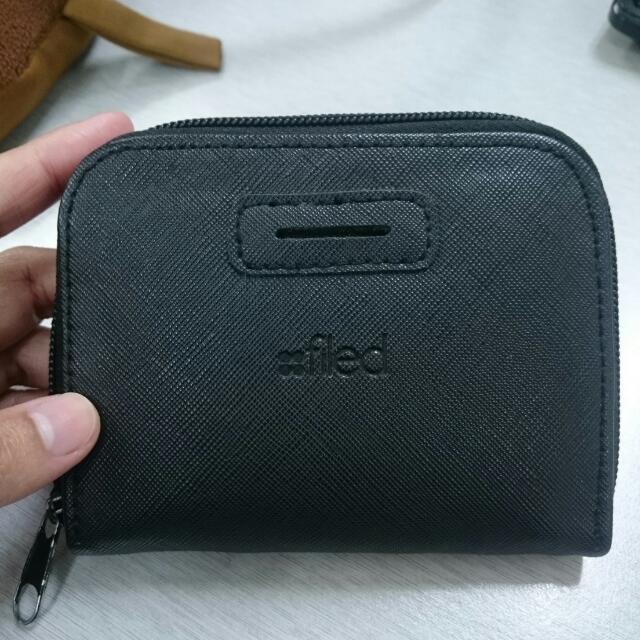 Filed Black Wallet