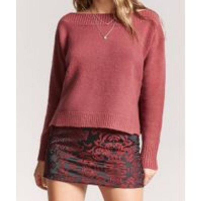Forever 21 Boat Neck Sweater