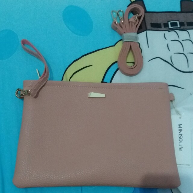 Free ong! Miniso clutch bag pink