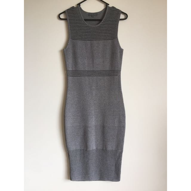 Grey Sheike Dress Size 8
