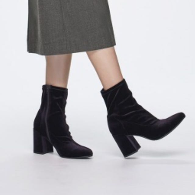gu黑色絲絨靴