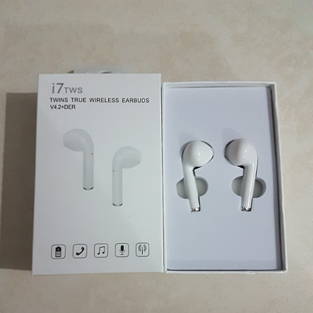 fc3550e6a97 I7 TWS Twins True Bluetooth Wireless Earbuds V4.2+DER, Electronics, Audio  on Carousell