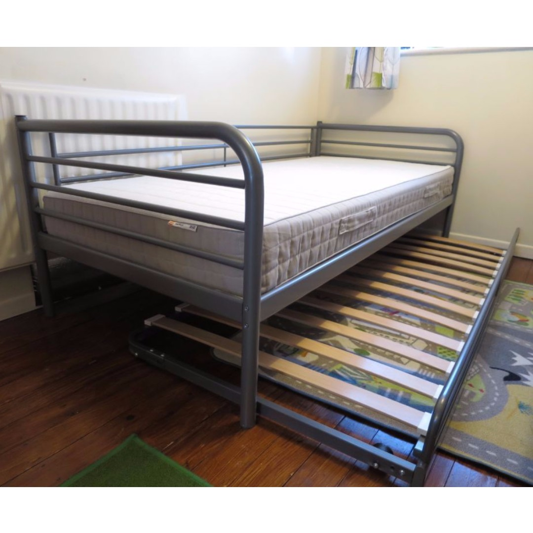 Ikea Svärta Single Bedframe With Pull Out Bed Furniture Beds