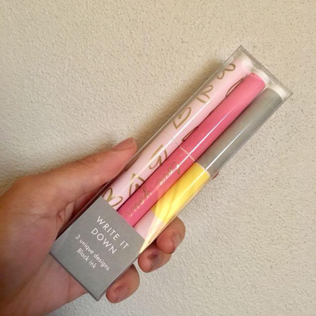 Kikki K Black Pens