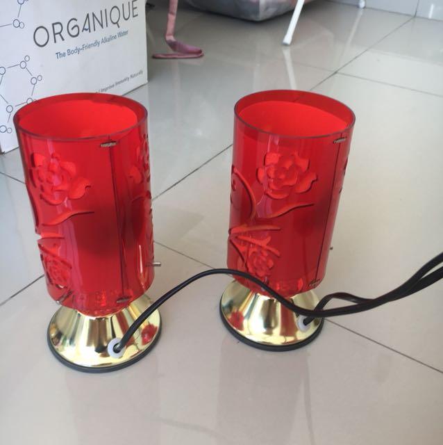 Lampu untuk persiapan pernikahan