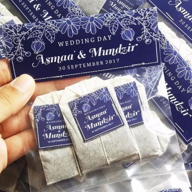 Latest Addition Three 3 Tea Bags Wedding Favors Berkat