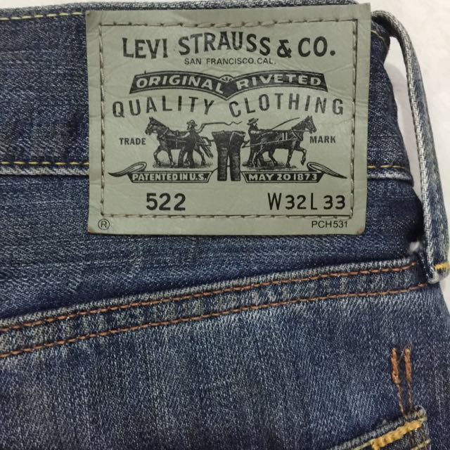 Levis 522 Slim Straight Jeans