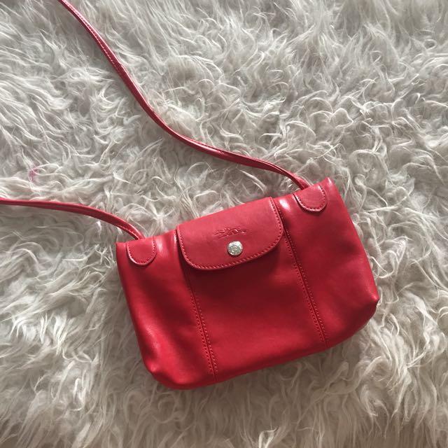 Longchamp mini cuir