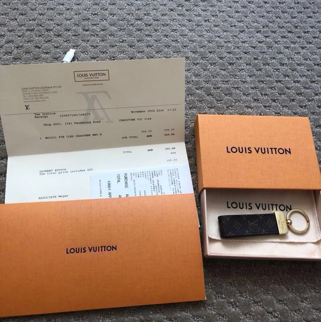 Lv authentic keychain
