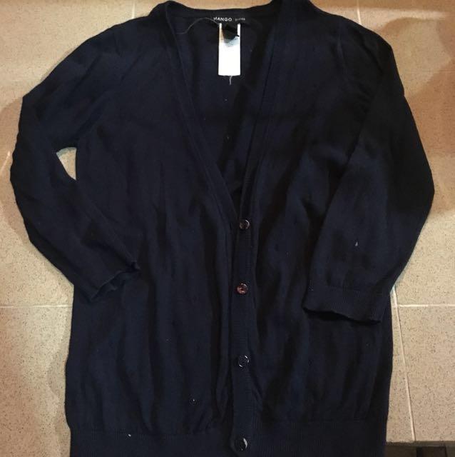 Mango Navy Blue Cardigan