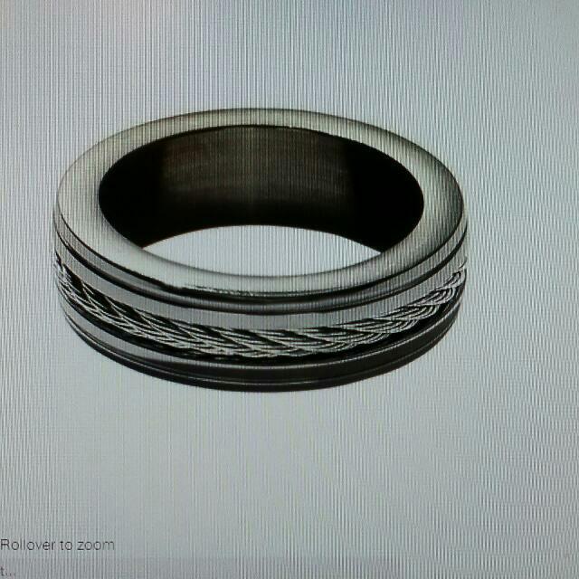 Men's Stainless Steel Rope Ring